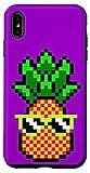 iPhone XS Max Gamer Girl Pineapple Sunglasses 8-Bit Video Game Cool Purple Case