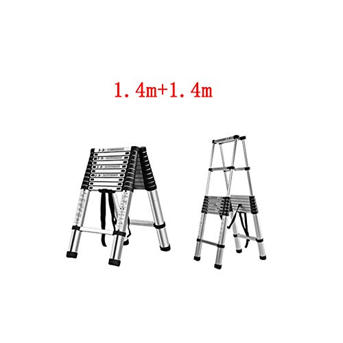 QARYYQ telescopische stijgende technische Herringbone-ladder-aluminiumlegering van de inklapbare ladderfamilie opstapkruk.