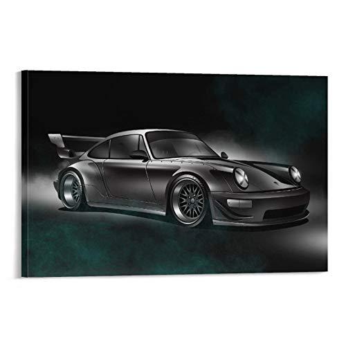 Znimo Póster de coche JDM Classic Car 911 - Póster de sala de estar, decoración de pared, lienzo para colgar 50 x 75 cm