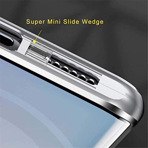 Hülle für Huawei P Smart 2021, Magnetische Adsorption Handyhülle 360 Grad Schutz Aluminiumrahmen mit Gehärtetes Glas, Starke Magneten Stoßfest Metall Flip Case Cover - Grün