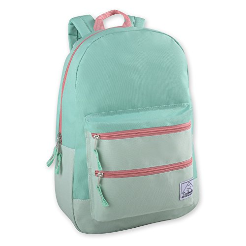 Multi-Color Back Pack with Adjustable Padded Shoulder (Green)