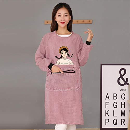 Baba Katoenen jurk, schort, lange mouwen, thuiskeuken, waterdicht en oliedicht, koken, werkkleding, jas