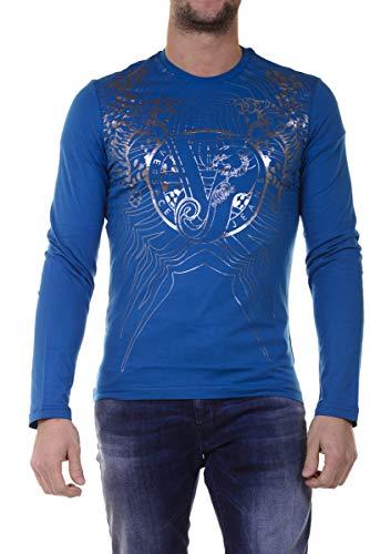 Versace Jeans - Herren-T-Shirt B3GOB752 BLAUES JERSEYBETT Luna XXL