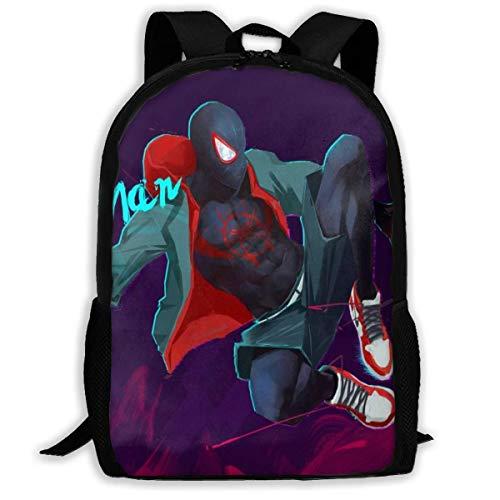 Mochila de Dibujos Animados Spider Avenger, Mochila de Viaje para Ordenador portátil, Bolsa de Libros con Capacidad, Bolso de papelería Ligero para Mujeres y Hombres, Oficina