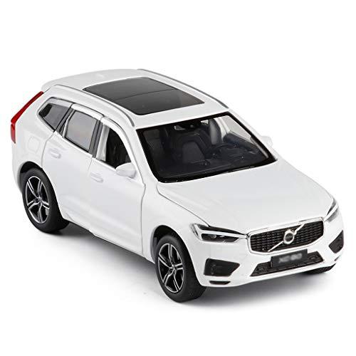 Autoveicoli 1:32 Model Car/Compatibile con Volvo XC60 / off-Road Lega Model Car Ammortizzante Sterzo Completamente Aperta del Modello del Metallo Giocattolo Adulto Arredamento (Color : White)