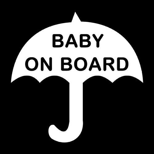 15,2X15 CM Regenschirm BABY AN BORD Ganzkörper Zubehör Vinyl Fenster Aufkleber Auto Jdm Decals Dekoration Kofferraum Racing Truck Bike Laptop Weiß 5 / STÜCKE