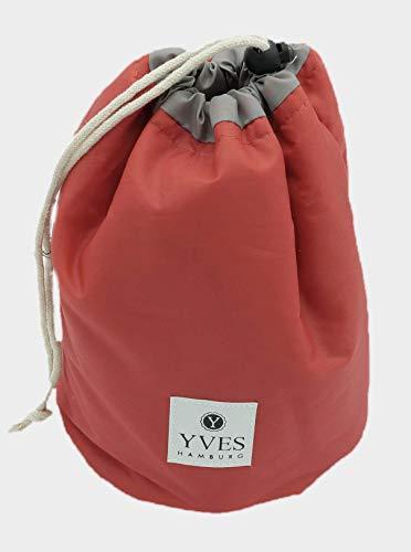 YVES Hamburg - waterdichte toilettas/cosmeticatasje (geschenkverpakking) in hotpink en turquoise roze
