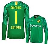 Citysoccer Kinder BVB Dortmund Torwart Trikot 19/20 inkl. GRATIS Beflockung Spieler- oder Eigenname (Konfigurator) (164)