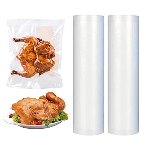 FENRIR Bolsas de Vacio para Alimentos,Rollos al Vacio para Envasadora al Vacío, 20 x 500 cm,sin BPA, reutilizables 2 rollos