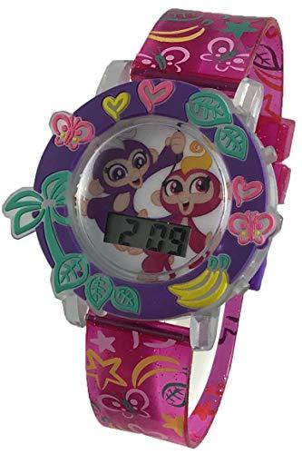 Fingerlings Girl's Light Up Pink Digital Watch