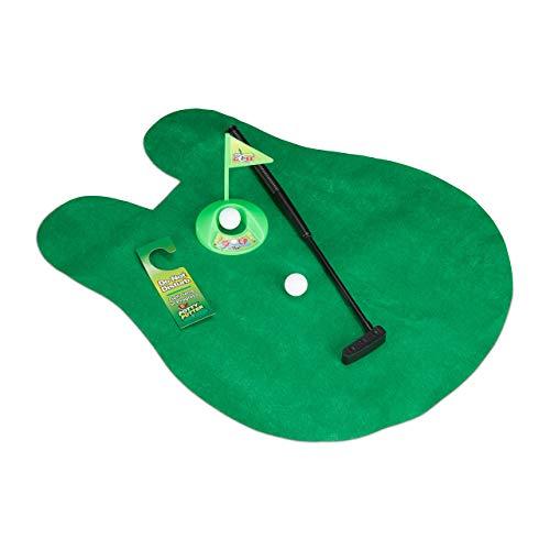 Relaxdays Golf Toilette Set, Golf WC, Set de Golf Toilette, Jeux Mini Golf Toilettes, 6 pièces, 2...