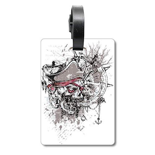Graffiti Street Pirat Ruder Skull Pattern Cruise Koffer Bag Tag Tourister Identifikationsetikett