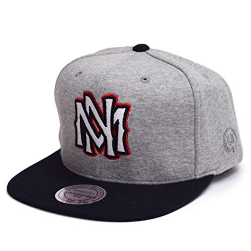 Mitchell & Ness Homme Casquettes / Casquette Snapback & Strapback The 3-Tone gris Réglable