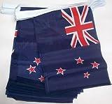 AZ FLAG FAHNENKETTE NEUSEELAND 4 Meter mit 20 flaggen 15x10cm- NEUSEELÄNDISCHE Girlande Flaggenkette 10 x 15 cm