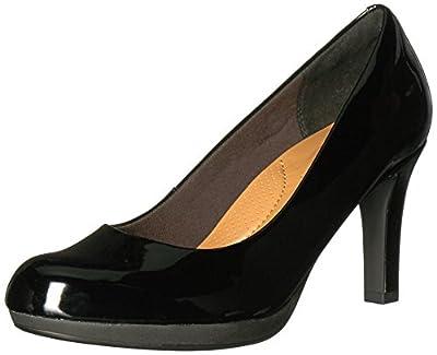 CLARKS Women's Adriel Viola Dress Pump, Black Patent, 7 M US