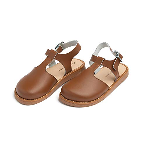 Freshly Picked - Newport Clog - Baby Boy Girl Leather Sandals - Size 3 Cognac Brown