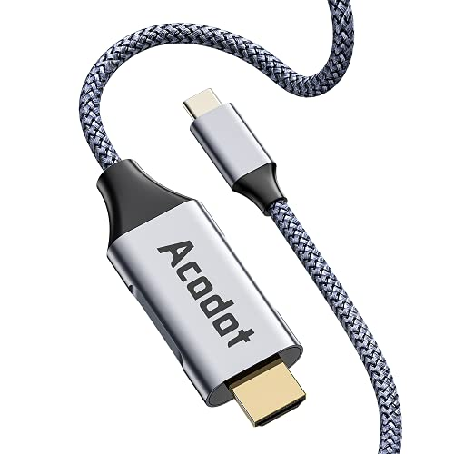 USB Type C HDMI 変換ケーブル【4K 60Hz対応】 USB C HDMI [1.8M / タイプCから HDMI/Thunderbolt 3] 映像出力/在宅勤務 高耐久 ナイロン MacBook Pro Air/iPad Pro/テレビ/プロジェクター など HDMI ウェブ会議/ディスプレイ 変換アダプター …