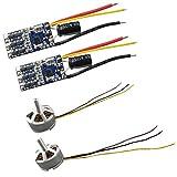 sharprepublic RC Drone Motors & Esc Set para Mjx B3 B3h F17 F100 Quadcopter Actualizar Partes - Tipo C