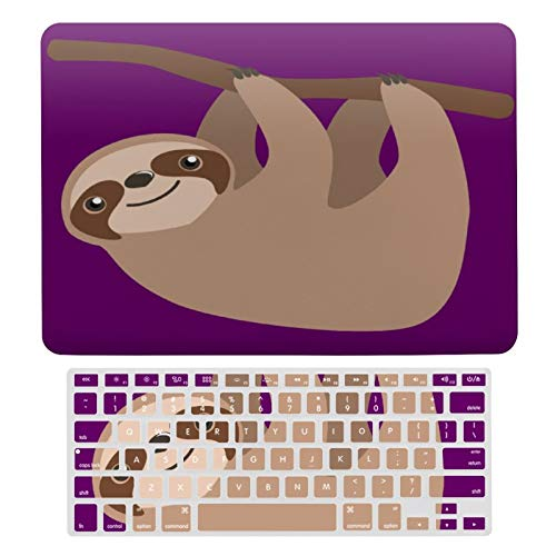MacBook Air 13 Inch Case(A1369 & A1466, Older Version 2010-2017 Release), Plastic Hard Protective Laptop Case Shell with Keyboard Cover, Cute Three Toed Sloth