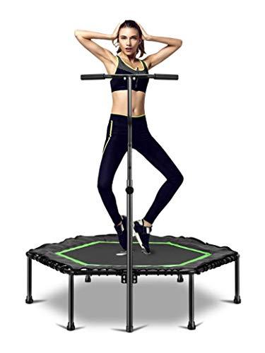 50 ″ Fitness Trampoline Bungee Rebounder para niños adultos, carga máxima 150kg Rebounder Trampoline Ejercicio Fitness Trampoline para interior / jardín / entrenamiento Cardio trampoline con manillar