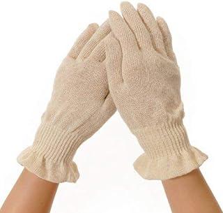麻福ヘンプ おやすみ手袋 きなり Sサイズ (女性ジャストフィット) 麻 手荒れ 主婦湿疹 ハンドケア 冷え 保湿 保温 抗菌 ムレない 就寝用