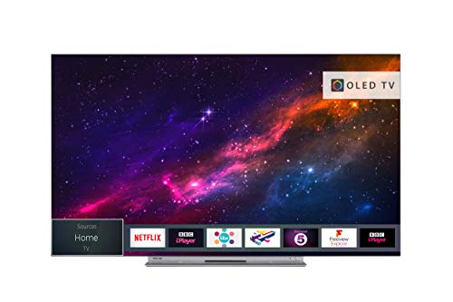 Toshiba 55X9863DB 55-Inch Smart 4K Ultra-HD HDR OLED TV with Freeview Play - Silver (2018 Model)
