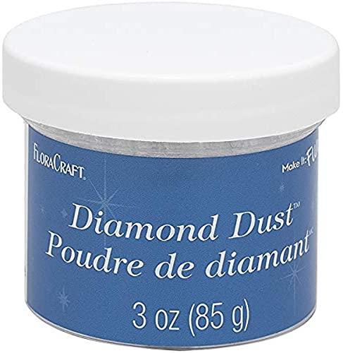 Floracraft Diamond Dust Crystal Twinklets,White
