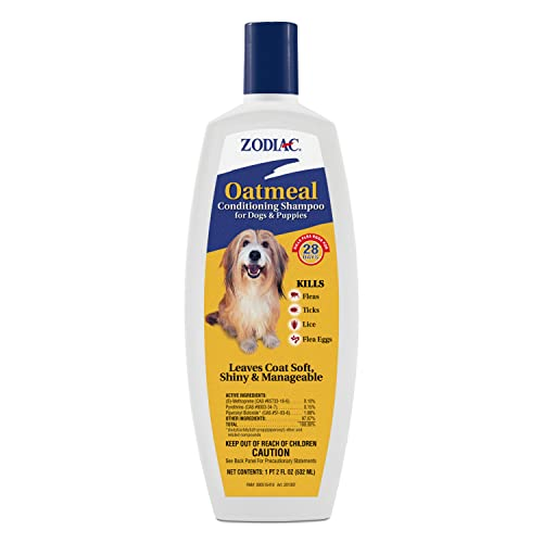 Zodiac Oatmeal Conditioning Shampoo for Dogs & Puppies 18 ounces