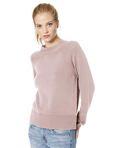 Amazon Brand - Daily Ritual Women's 100% Cotton Mock-Neck Pullover Sweater, Lilac, Large