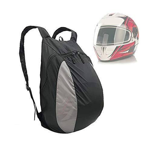 ZHXH 28L Motorrad Rucksack Spritzwassergeschütztes Reithelm Tasche Outdoor Fitness Basketball-Turnschuh-Beutel-Beweglicher Nylon-Rucksack,Schwarz