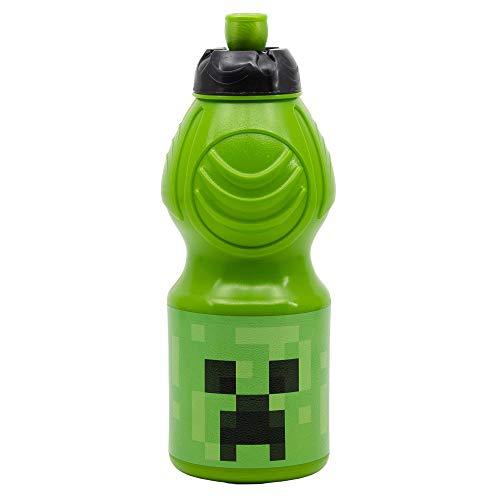 STOR Minecraft Sportflasche, 400 ml, einzigartig, Standard