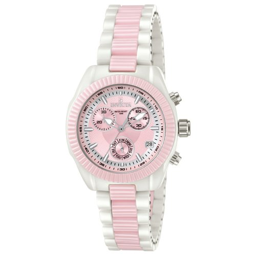 Invicta Ladies cerámica Collection Rosa y Blanco 5301–Reloj cronógrafo