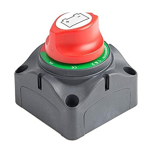 Star Firm 3 Posición Desconecte el Interruptor Maestro de Aislamiento, 12-60V Cortar la batería Cortar el Interruptor de Matanza, Ajuste para el automóvil/vehículo/RV/Boat/Marine, 200 /