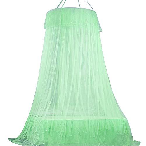 BESTZY Groß Mückennetz inkl, Moskitonetz Bett, Montagematerial, MoskitoschutzF, Fliegennetz auch auf der Reise, Betthimmel, Mückenschutz (Grün, 250 x 70 x 1050 cm)
