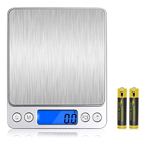 LinGear Digital Kitchen Scales, Portable Small Electronic...