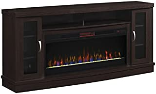 Classic Flame Hutchinson Infrared Electric Fireplace Entertainment Center, Oak Espresso