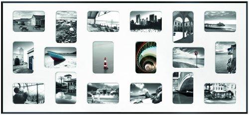 Nielsen Pixel 18 Schwarz 49,5x109,2cm inkl. Passepartout, 18 Fotos Bilderrahmen Collagerahmen