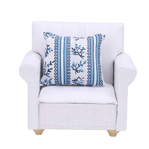 Muebles de casa de muñecas, sofá 1/12, casa de muñecas en miniatura, accesorios para sala de estar