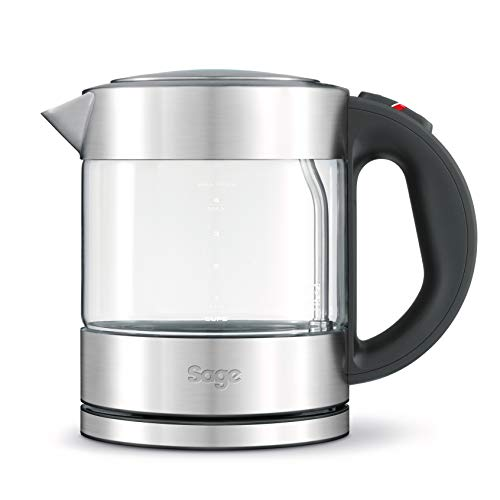 Sage the Compact Glass Kettle [BKE395UK] , 1L, Silver