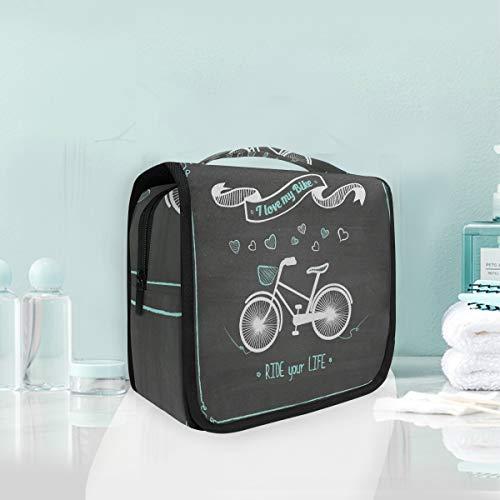 Dessin Animé Beau Vélo Trousse De Toilette Sac Pliable Suspendu Cosmétique Sac Rangement Maquillage sacs pour Voyage Femmes Filles