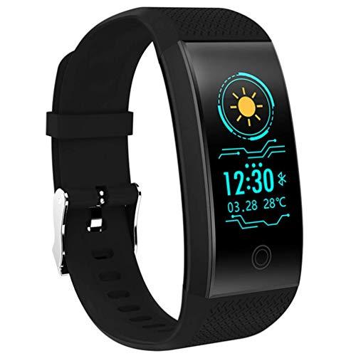 HOMECCLL Smart Armband Pulsmesser IP68 wasserdichte Farbe Bildschirm Fitness Tracker Band Bluetooth 4.0 Sport Armband,Black