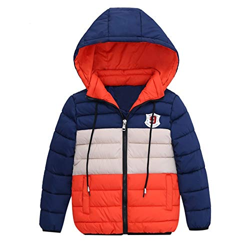 KEERADS Combinaison Ski Enfant Veste Enfant Garcon Blouson Manteau Chaud Enfant Garçon Fille Doudoune à Capuche - Veste à Manches Longues Sport bébé Ski Vêtement