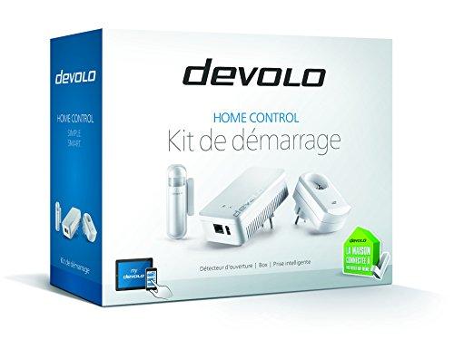 Devolo 9518 Kit de démarrage Devolo Home Control (Z-Wave, kit cpl, pilotage via appli iOS/Android, installation facile, maison intelligente, prise...
