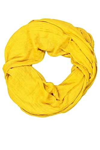 GINA LAURA Damen Schal, feine Struktur, luftig-leicht amber-gelb 1Size 724901 63-1