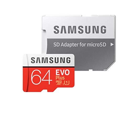 Samsung Evo Plus 64GB MicroSD SDXC Klasse 10 Neues Modell bis 100MB / S Full HD und 4K UHD mit Adapter