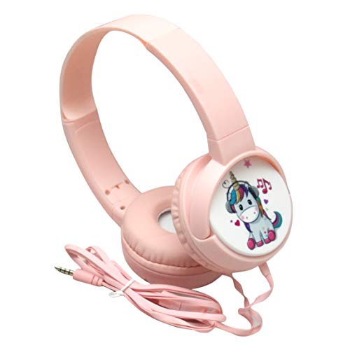ALWAYS TREND Unicorn Kids Wire Headphone with mic Foldable Adjustable On-Ear Headphones for School, Compatible with Cellphones, Tablets, PC (Pack of 1)