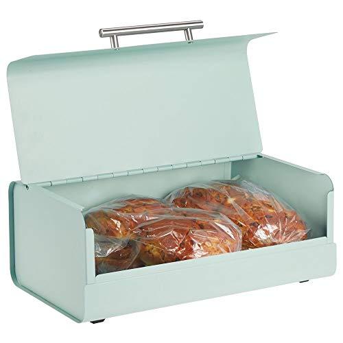 mDesign Panera de metal – Elegante contenedor para pan con