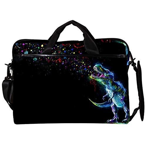 TIZORAX Laptop Messenger Shoulder Bags Dinasaur Watching Party Sparkles Computer Sleeve Notebook Carrying Case 15-15.4 inch Handbag