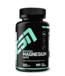 ESN Magnesium Caps - 120 capsules - Top: Magnesium bisglycinate (magnesium chelate) - 150 mg elemental magnesium per capsule - Laboratory-tested quality, vegan, high dose - Made in Germany