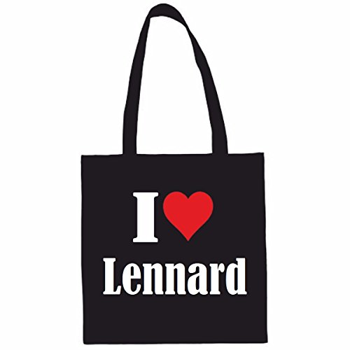 Reifen-Markt Tasche I Love Lennard Größe 38x42 Farbe Schwarz Druck Weiss